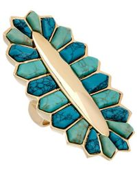 Noir Jewelry 18k Plated Turquoise Ring - Multicolour