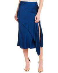Jason Wu Jason Wu Silk-lined Satin Skirt - Blue