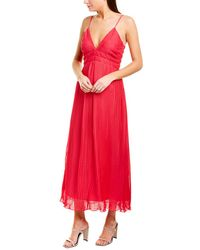 La Maison Talulah Raspberry Sorbet Midi Dress - Red