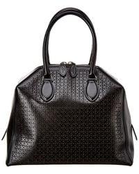 Alaïa Leather Satchel - Black
