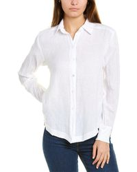 Wilt Rib Mix Linen-blend Shirt - White