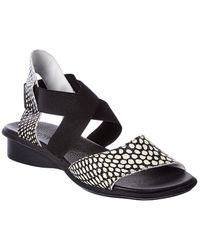 Arche Satia Leather Sandal - Black