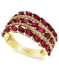 Effy 14k 2.77 Ct. Tw. Diamond & Ruby Ring - Red
