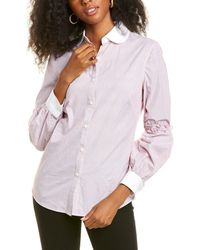 Max Studio Button-front Shirt - Red