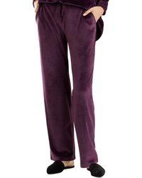 N Natori Velour Pant - Purple