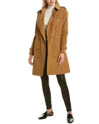 Burberry Detachable Hood Trench Coat - Brown