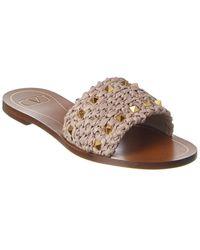 Valentino Garavani Rockstud Woven Sandals - Multicolor