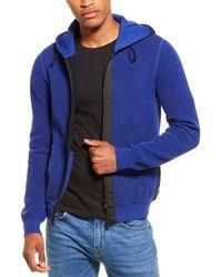 Woolrich Textured Weave Hoodie - Blue
