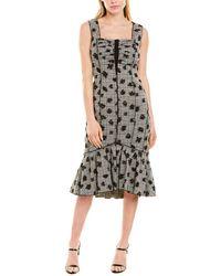 Jason Wu Floral Sheath Dress - Black