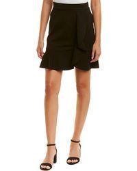 Three Dots Ponte Ruffle Skirt - Black