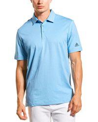 adidas Originals Ultimate365 2.0 Novelty Heather Polo Shirt - Blue