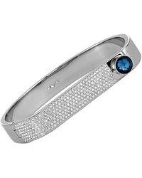Swarovski Crystal Stainless Steel Bracelet - Gray
