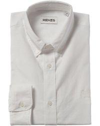KENZO Tiger Crest Dress Shirt - White