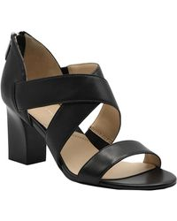 Adrienne Vittadini Rowsey Cross Band Sandals - Black