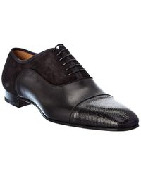 Christian Louboutin Greggo Orlato Leather & Suede Oxford - Black