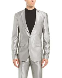 Aspetto 2pc Suit With Flat Pant - Gray