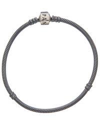PANDORA Charm Carrier Silver Charm Bracelet - Metallic