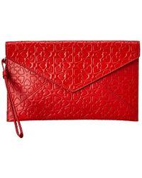 Rebecca Minkoff Leo Leather Wristlet - Red