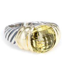 David Yurman - David Yurman Cable 14k & Silver 8.00 Ct. Tw. Lemon Citrine Ring - Lyst