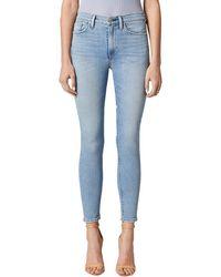 Hudson Jeans Barbara Lifetimes High-waist Crop Straight Leg Jean - Blue