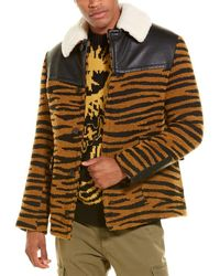 Stella McCartney Tiger Wool-blend Peacoat - Multicolour