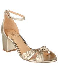 Badgley Mischka - Lacey Leather Sandal - Lyst