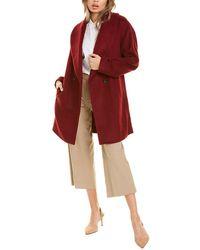 Avec Les Filles Shawl Collar Wool-blend Coat - Red