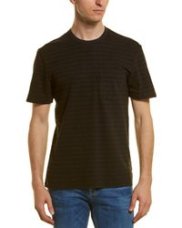 James Perse Shadow Striped Pocket T-shirt - Gray