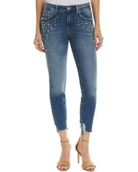 Mavi Jeans Tess Indigo Pearl High-rise Skinny Leg - Blue