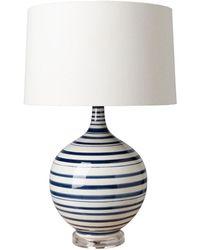 Surya Tideline White Table Lamp