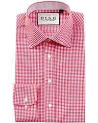 Thomas Pink Hampson Slim Fit Dress Shirt - Pink