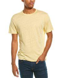 Vince Crewneck Linen T-shirt - Yellow