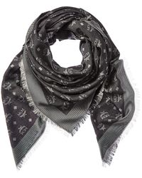 MCM Monogram Jacquard Silk & Wool-blend Scarf - Multicolour