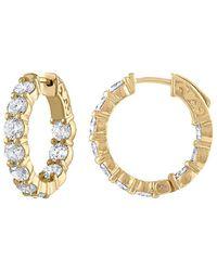 Diana M. Jewels . Fine Jewellery 18k 4.30 Ct. Tw. Diamond Hoops - Metallic