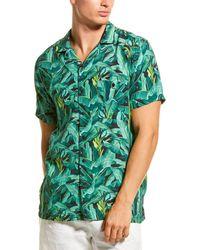 Onia Vacation Camp Collar Shirt - Green