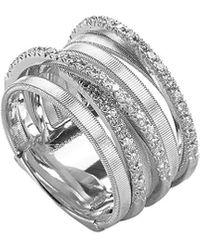 Marco Bicego Goa 18k 0.38 Ct. Tw. Diamond Ring - Metallic