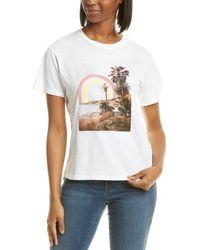 Wildfox Keke Rainbow Coast T-shirt - White