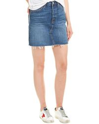 Levi's High-rise Deconstructed Iconic Skirt - Blue