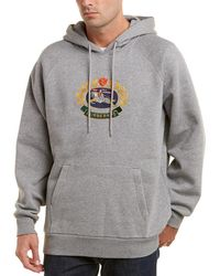 Burberry - Embroidered Archive Logo Jersey Hoodie - Lyst
