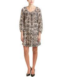 Rebecca Taylor Potpourri Paisley Print Silk Drop-waist Dress - Black