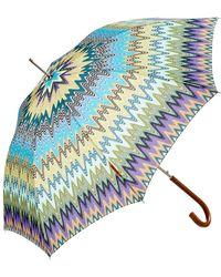 Missoni - Irene Large Wave Print Automatic Umbrella - Lyst
