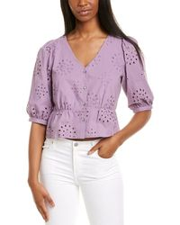 1.STATE Eyelet Button Front Top - Purple