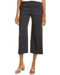 Theory Wide-leg Linen-blend Pant - Black