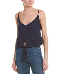 Sage the Label Costa Tie-front Tank - Blue