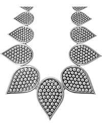Lagos Bold Caviar Silver Necklace - Metallic