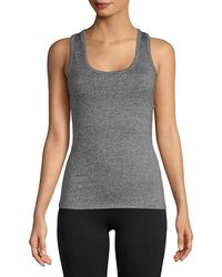 Electric Yoga Lace-up Stretch Tank Top - Gray