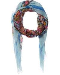 J.McLaughlin Giselle Silk-blend Scarf - Blue