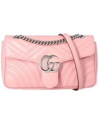 Gucci GG Marmont Small Shoulder Bag - Pink