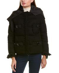 Moncler Wool-blend Down Coat - Black