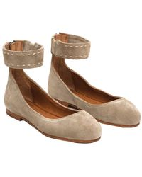 Frye - Carson Ankle Suede Ballet Flat - Lyst